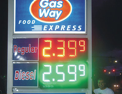 Philippines LED gas price sign