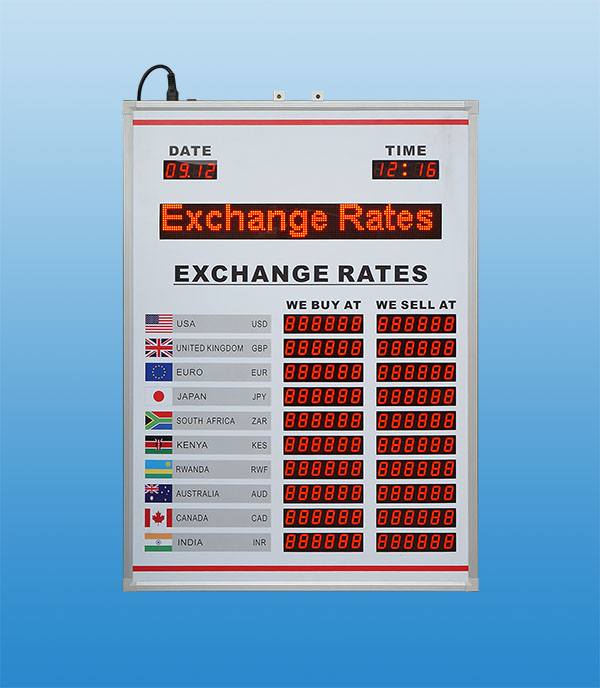 British LED Exchange Rate Display